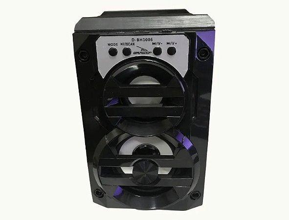 Caixa de Som Bluetooth MP3 FM Portátil Grasep D-BH1006