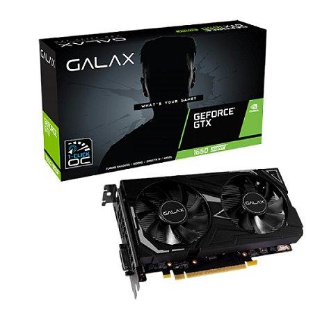Placa de Vídeo Galax NVIDIA GeForce GTX 1650 EX 4GB, GDDR5