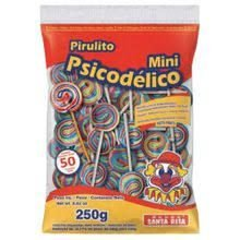 Pirulito Psicodélico Mini Santa Rita c/ 50 unid.