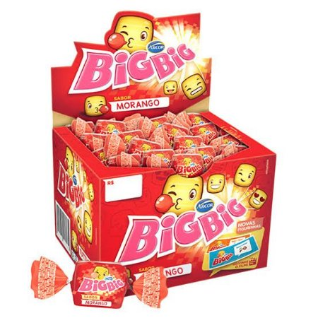 Chicle BigBig c/ 100 unid. Sabores