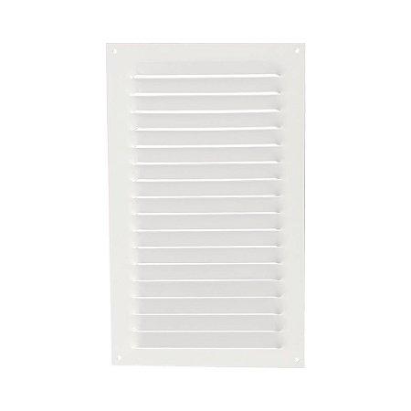Grade De Ventilação Retangular De Alumínio Branca 20X33 Cm