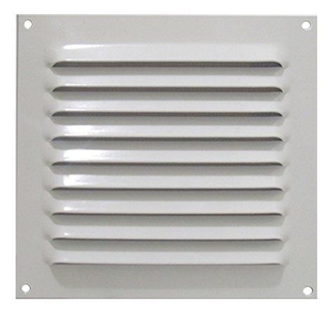 Grade de Ventilação Quadrada de Alumínio Branca 20x20 cm