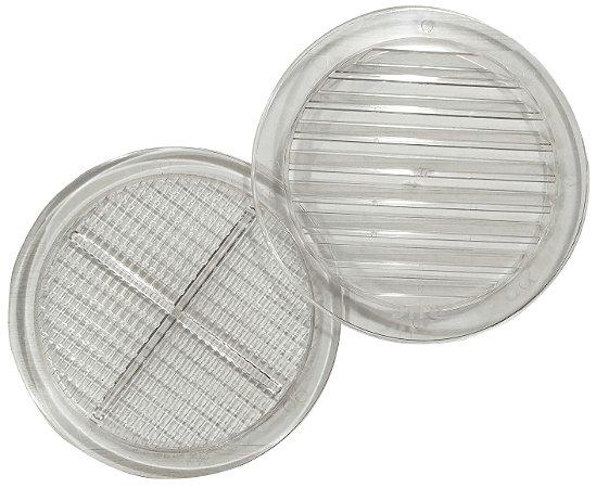 Grade de Ventilação Redonda Transparente 150 mm Para Vidro