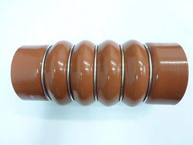 Mangueira Do Intercooler Vermelha De Silicone 80X87X215mm  - 1620/1618/1621(5 ANEIS DE AÇO) -Mercedes - 6965007375