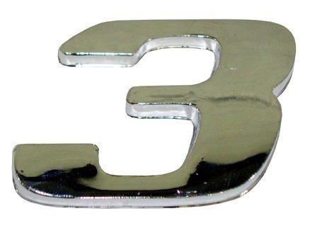 Emblema Número 3 Cromado Mercedes AXOR / ATEGO - 9438171414