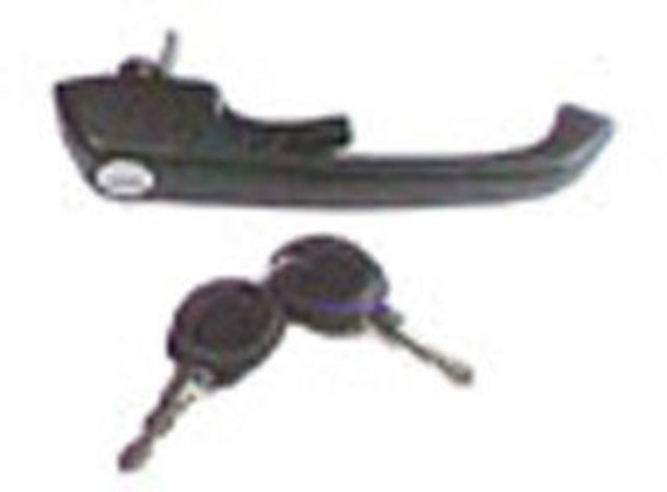 Maçaneta Externa Porta(Preta) - Volkswagen-TODOS-Esquerda/Direita  - 2VC837205