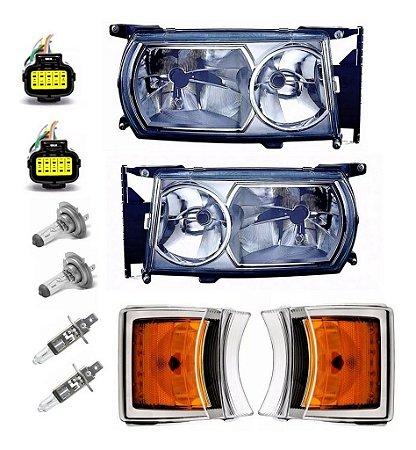 Kit Farol e Pisca Scania Serie 5 Adaptação Série 4 124 Completo com chicote