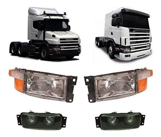 Conjunto Farol Lanterna Milha Scania S 4 P R G T 94 114 124