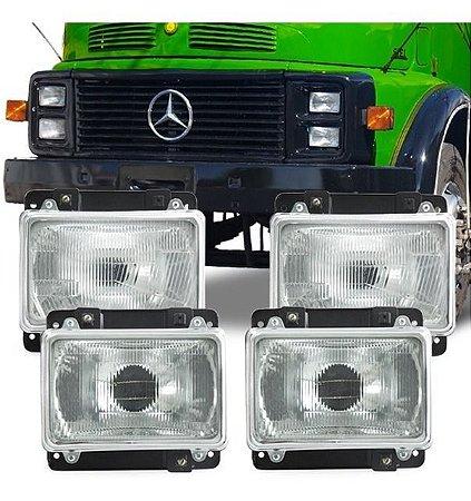 Kit Farol Mercedes Cara Preta - 3318209261