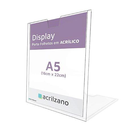 Display de Acrílico para Parede Porta Folha A5 15x21cm
