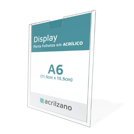 Display Acrílico para Parede Porta Folha A6