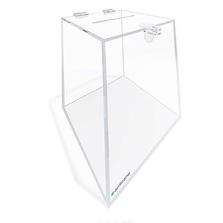 Urna de Acrílico Transparente Piramidal 25cm