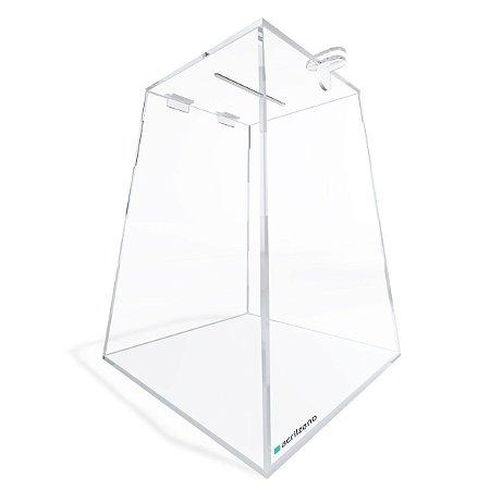 Urna de Acrílico Transparente Piramidal 30cm
