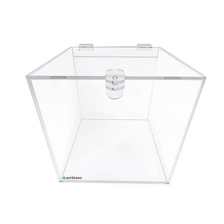 Urna de Acrílico Quadrada 20x20x20cm