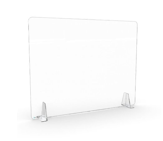 Barreira de Proteção Transparente Desmontável Para Mesa e Balcão 65x63cm