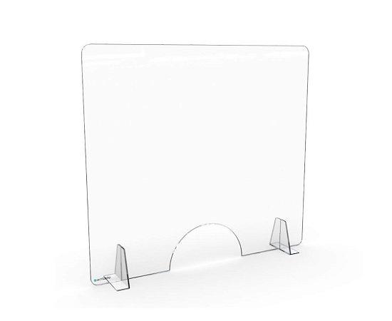 Barreira de Proteção Transparente Desmontável com Abertura Oval 65x63cm