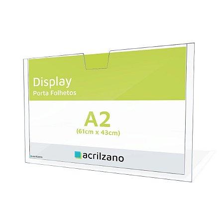 Display de Parede Porta Folha A2 Horizontal
