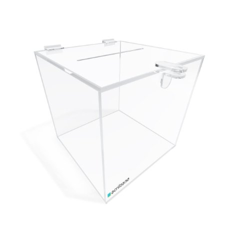 Urna Quadrada Transparente 20x20x20cm