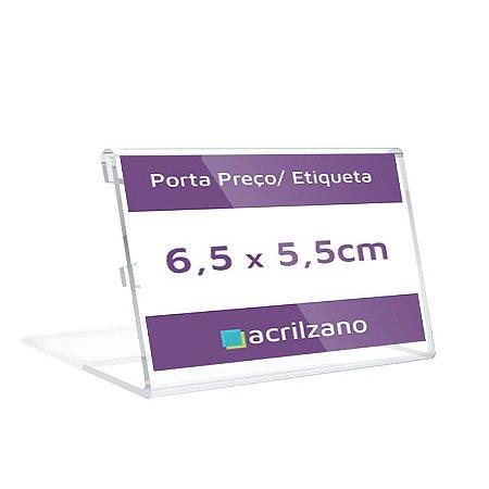 Porta Preço E Etiqueta De Acrílico Em L 6,5x5,5x5cm