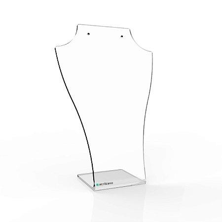 Expositor de Colar e Brinco em Acrílico - Transparente 5 Peças