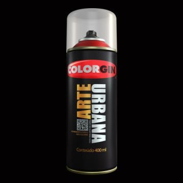 Tinta Spray COLORGIN ARTE URBANA PRETO 400ML - 915