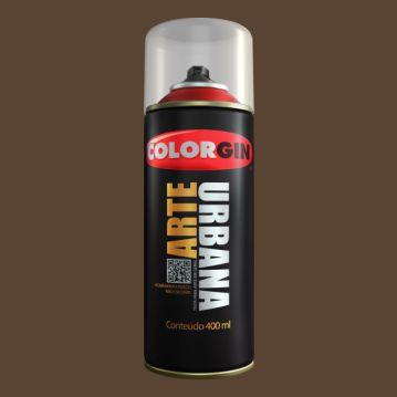 Tinta Spray ARTE URBANA MARROM TABACO 400ML COLORGIN
