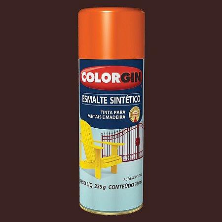 Tinta Spray COLORGIN ESMALTE SINTÉTICO  MARROM 350ML - 731