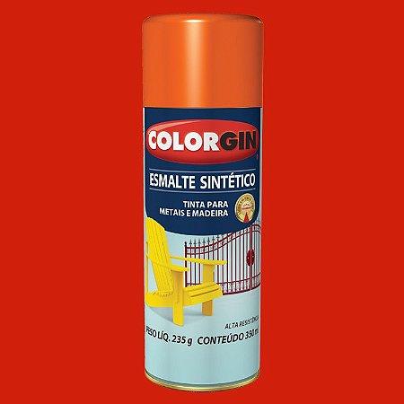 Tinta Spray ESMALTE SINTÉTICO LARANJA 350ML COLORGIN