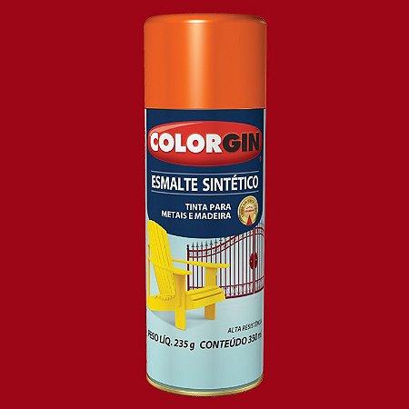 Tinta Spray COLORGIN ESMALTE SINTÉTICO VERMELHO 350ML