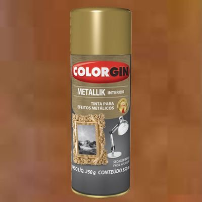 Tinta Spray COLORGIN METALLIK COBRE 235GR - 54