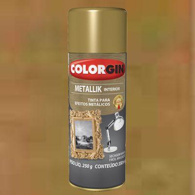 Tinta Spray COLORGIN METALLIK DOURADO 235GR - 57
