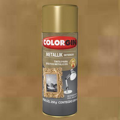 Tinta Spray METALLIK OURO 235g COLORGIN