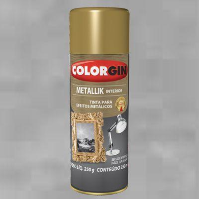 Tinta Spray COLORGIN METALLIK PRATA 235GR - 53