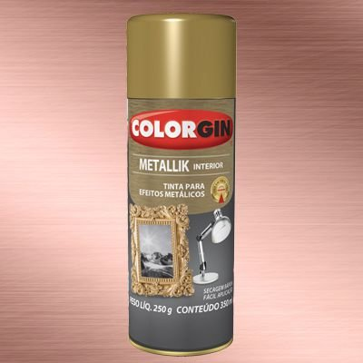 Tinta Spray COLORGIN METALLIK ROSE GOLD 235GR - 53