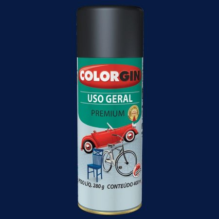 Tinta Spray COLORGIN Uso Geral Azul Colonial 400ML -  55071