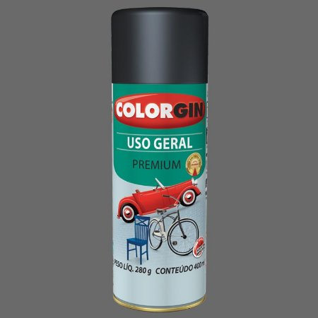 Tinta Spray Uso Geral Grafite Metálico P/ Rodas 400ml COLORGIN