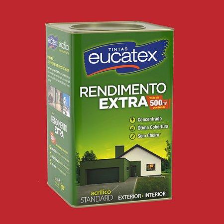 Tinta Acrílica Rendimento Extra Cereja 18LT Eucatex