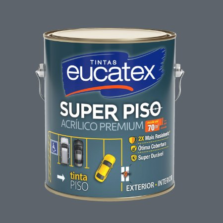 Tinta Acrílica Piso Cinza 3.6LT Eucatex