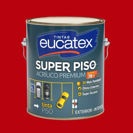 Tinta Acrílica Piso Vermelho Segurança 3.6LT Eucatex