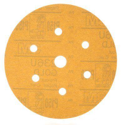 Pacote 50 Discos Para Lixamento a seco 3M™ 236U Grão P120C 152 mm - 7 Furos - HC000619573