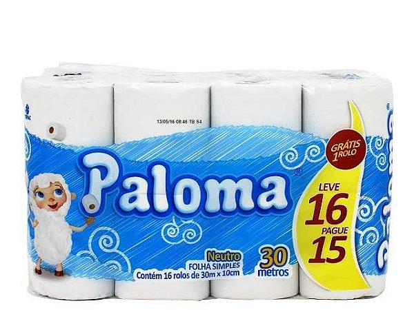 Papel Higiênico Folha Simples 16X04 30M Paloma