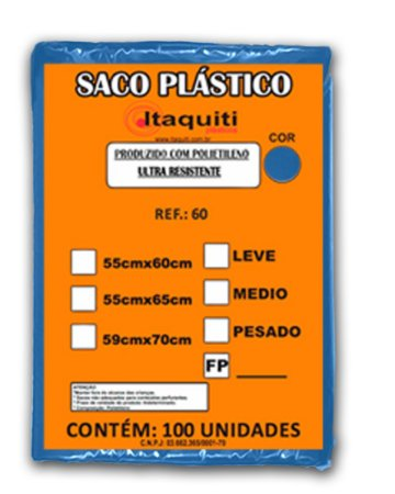 Saco de Lixo 60 Litros com 100 unidades - Itaquiti