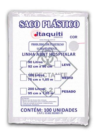 Saco de Lixo Hospitalar 100 Litros com 100 unidades - Itaquiti