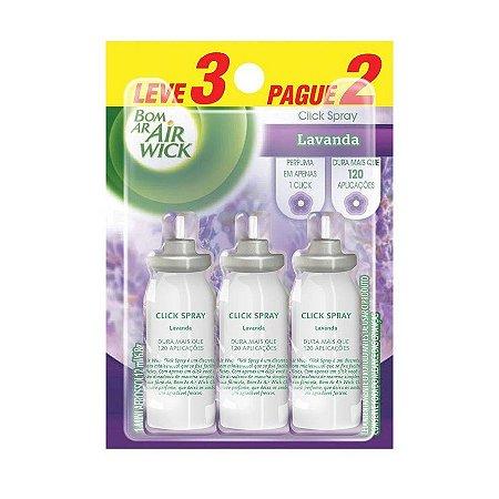 Desodorizador Bom Ar Fresh Matic Refil com 3 unidades - 12ml