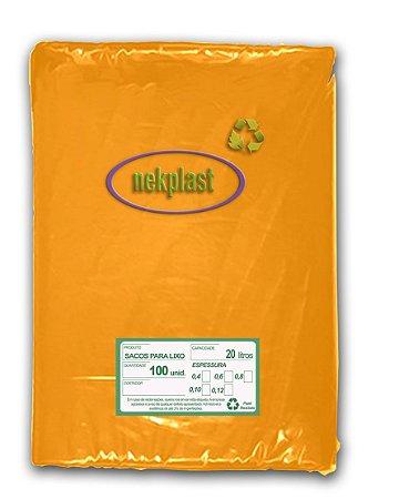 Saco de Lixo 20 Litros com 100 unidades - Nekplast