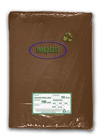 Saco de Lixo 100 Litros com 100 unidades - Nekplast