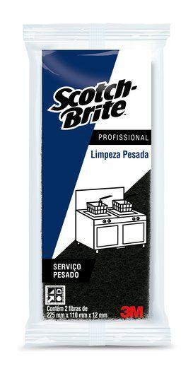 Fibra 102x260 3m Scotch Brite - Limpeza Pesada