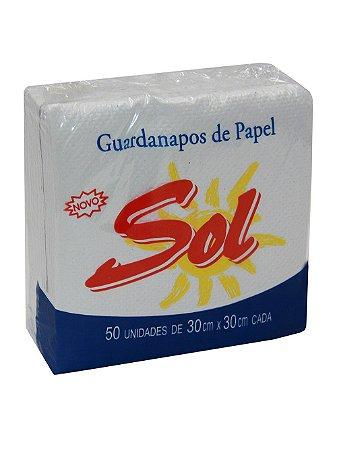 Guardanapo Folha Simples Luxo 30x30 c/100 - SOL