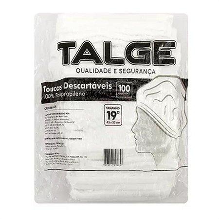 Touca Descartável Branca Talge - c/100 unidades