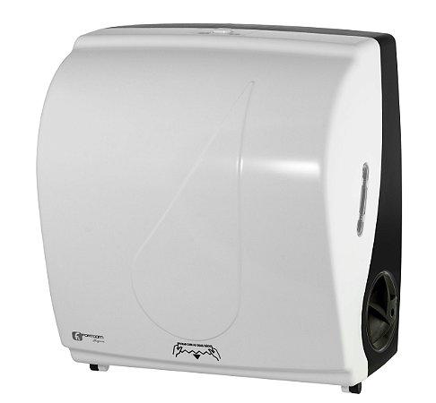 Dispenser Toalha Bobina Auto Corte Black&White - Fortcom
